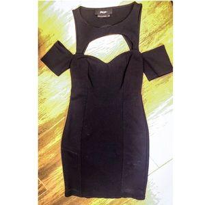 XS Nasty gal mini dress Black LBD cutouts sexy! 🔥